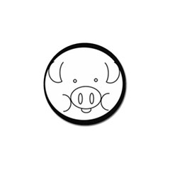 Pig Logo Golf Ball Marker (4 Pack) by Simbadda