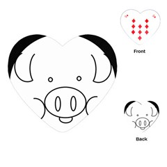 Pig Logo Playing Cards (heart)  by Simbadda
