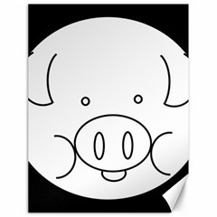 Pig Logo Canvas 18  X 24   by Simbadda