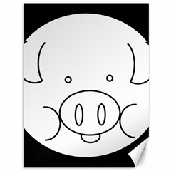 Pig Logo Canvas 36  X 48   by Simbadda