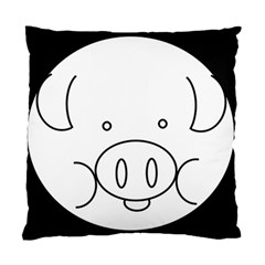 Pig Logo Standard Cushion Case (two Sides)