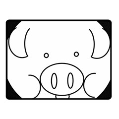 Pig Logo Fleece Blanket (small) by Simbadda