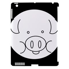 Pig Logo Apple Ipad 3/4 Hardshell Case (compatible With Smart Cover)