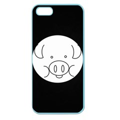 Pig Logo Apple Seamless Iphone 5 Case (color) by Simbadda