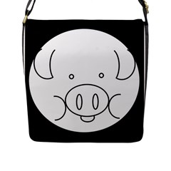 Pig Logo Flap Messenger Bag (l)  by Simbadda