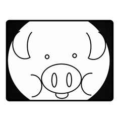 Pig Logo Double Sided Fleece Blanket (small)  by Simbadda