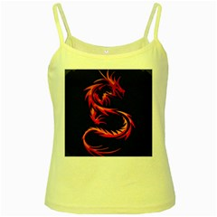 Dragon Yellow Spaghetti Tank by Simbadda
