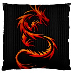 Dragon Large Flano Cushion Case (two Sides) by Simbadda