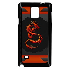 Dragon Samsung Galaxy Note 4 Case (black) by Simbadda