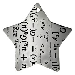Science Formulas Star Ornament (two Sides) by Simbadda