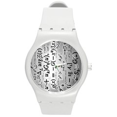 Science Formulas Round Plastic Sport Watch (m) by Simbadda