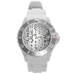 Science Formulas Round Plastic Sport Watch (l) by Simbadda