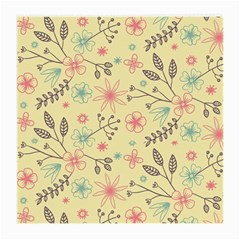 Seamless Spring Flowers Patterns Medium Glasses Cloth (2 Side) by TastefulDesigns