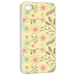 Seamless Spring Flowers Patterns Apple Iphone 4/4s Seamless Case (white) by TastefulDesigns