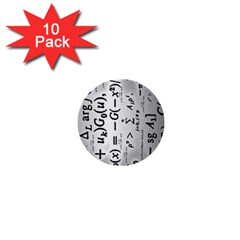 Science Formulas 1  Mini Buttons (10 Pack)
