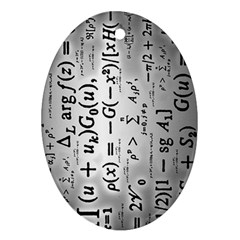 Science Formulas Oval Ornament (two Sides) by Simbadda