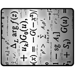 Science Formulas Double Sided Fleece Blanket (medium)  by Simbadda