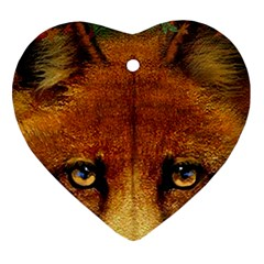 Fox Ornament (heart) by Simbadda