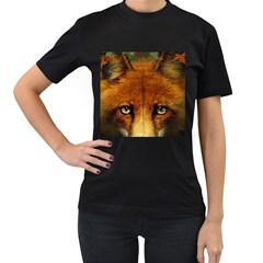 Fox Women s T Shirt (black)