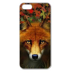 Fox Apple Seamless Iphone 5 Case (clear) by Simbadda