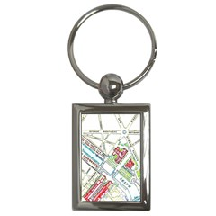 Paris Map Key Chains (rectangle)  by Simbadda