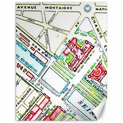 Paris Map Canvas 12  X 16   by Simbadda
