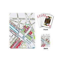 Paris Map Playing Cards (mini)  by Simbadda
