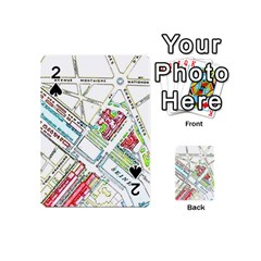Paris Map Playing Cards 54 (mini)  by Simbadda
