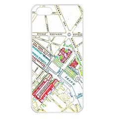 Paris Map Apple Iphone 5 Seamless Case (white) by Simbadda