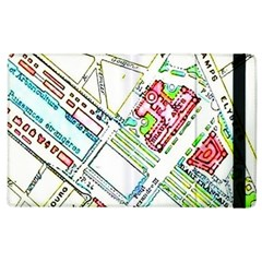 Paris Map Apple Ipad 3/4 Flip Case by Simbadda