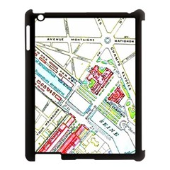Paris Map Apple Ipad 3/4 Case (black) by Simbadda