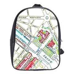 Paris Map School Bags (xl)  by Simbadda