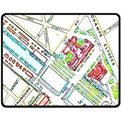 Paris Map Double Sided Fleece Blanket (medium)