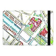 Paris Map Samsung Galaxy Tab Pro 10 1  Flip Case by Simbadda