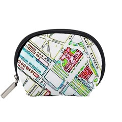 Paris Map Accessory Pouches (small)  by Simbadda
