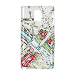 Paris Map Samsung Galaxy Note 4 Hardshell Case by Simbadda