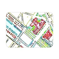 Paris Map Double Sided Flano Blanket (mini)