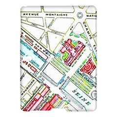 Paris Map Samsung Galaxy Tab S (10 5 ) Hardshell Case  by Simbadda