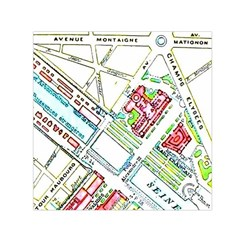 Paris Map Small Satin Scarf (square) by Simbadda