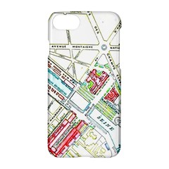 Paris Map Apple Iphone 7 Hardshell Case by Simbadda