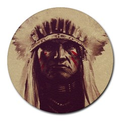 Indian Round Mousepads by Simbadda
