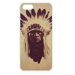 Indian Apple Iphone 5 Seamless Case (white) by Simbadda