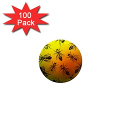 Insect Pattern 1  Mini Magnets (100 Pack)  by Simbadda