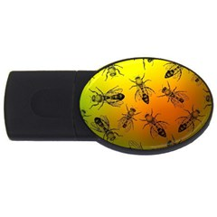 Insect Pattern Usb Flash Drive Oval (4 Gb) by Simbadda