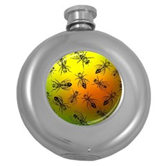 Insect Pattern Round Hip Flask (5 Oz) by Simbadda