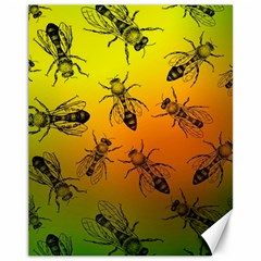 Insect Pattern Canvas 11  X 14