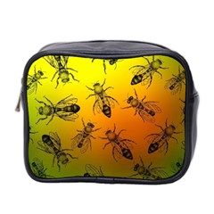 Insect Pattern Mini Toiletries Bag 2 Side by Simbadda