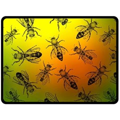Insect Pattern Fleece Blanket (large)  by Simbadda