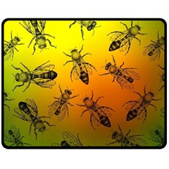 Insect Pattern Fleece Blanket (medium)  by Simbadda