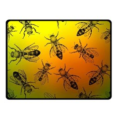 Insect Pattern Fleece Blanket (small) by Simbadda